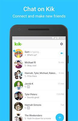 انشاء حساب في تطبيق كيك ماسنجر